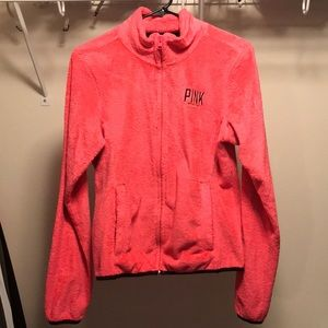 VS PINK Teddy Fleece Zip Up Sweatshirt